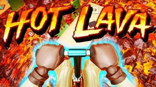 The FLOOR IS LAVA and POGO STICKS! - Hot Lava Gameplay - Beta