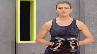 Full body workout using a pair of dumbbells