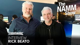 Sweetwater talks to Rick Beato at the Universal Audio booth at NAMM