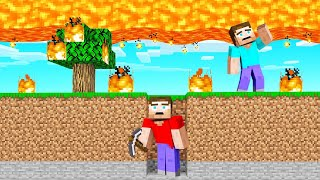 Surviving MINECRAFT With FALLING LAVA! (endless)