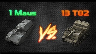 """[13 T82] SHOOTING AT [1 MAUS] // World or Tanks Blitz """"Faceoff"""""""