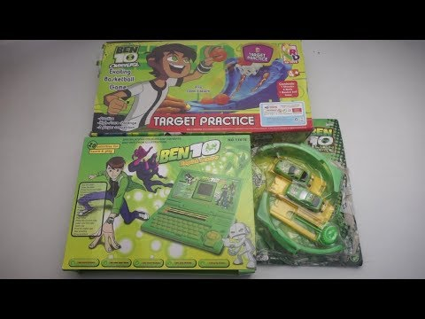 Ben 10 English Learning Laptop,Ben 10 Alien Force Track Set,Ben10 Omniverse BasketBall Game Toy