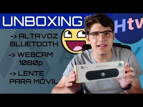 UNBOXING AUKEY: ALTAVOZ Bluetooth, WEBCAM 1080p HD, OBJETIVO para iPhone / Android y ¡¡SORTEO!!