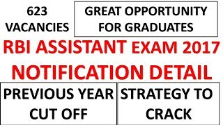 RBI Assistant 2017  Notification Out---Previous Year Cut off and Exam Analysis
