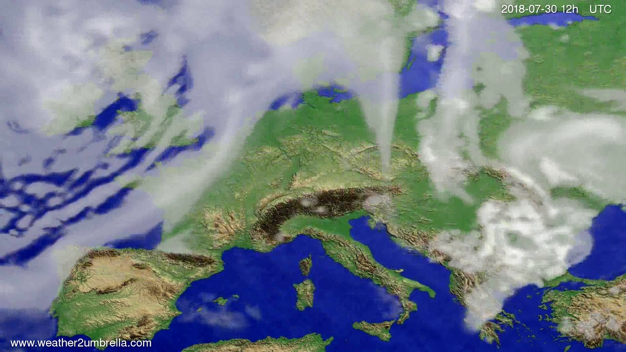 Cloud forecast Europe 2018-07-28