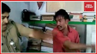 Drunk Nephew Of SP Leader Slaps Policeman Caught On Camera