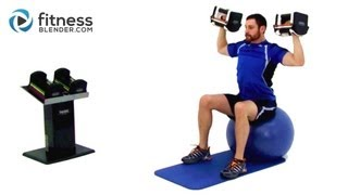 Upper Body Dumbbell Workout - Weight Training with Dumbbells by FitnessBlender
