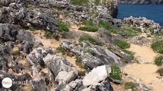 Steinige Wege an der spanischen Küste