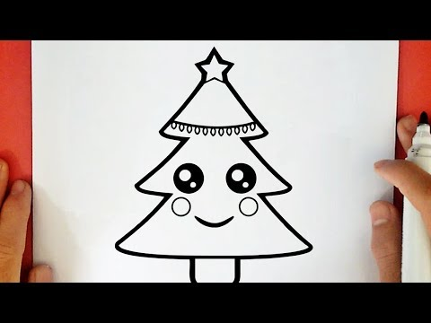 Comment Dessiner Un Sapin De Noel Kawaii Guuhdessins Video