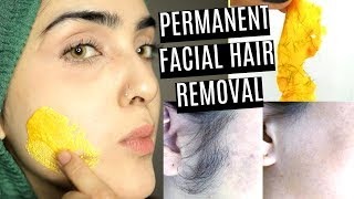 How To Remove Facial Hair PERMANENTLY *NO GELATIN/Natural DIY * ~ Immy