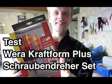 Test Wera Kraftform Plus Serie 100 VDE Schraubendreher-Satz Lasertip   Schraubendreher Set Test