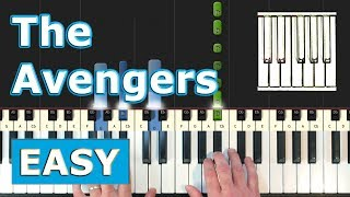 The Avengers Theme - EASY Piano Tutorial - Sheet Music (Synthesia)