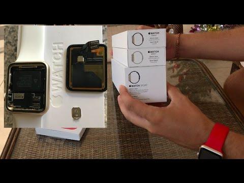 Unpacking Apple Watch Series что делать если сломались Apple Watch и как поменять на новые
