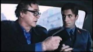 """Gregory Hlady and Michael Caine. Film """"Bullet to Beijing"""",1995"""