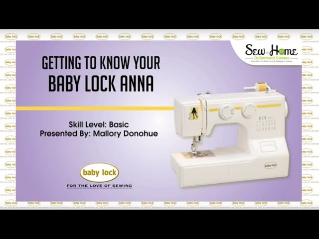Baby Lock Anna ALine Sewing Machine BL40A Beauteous Babylock Anna Sewing Machine