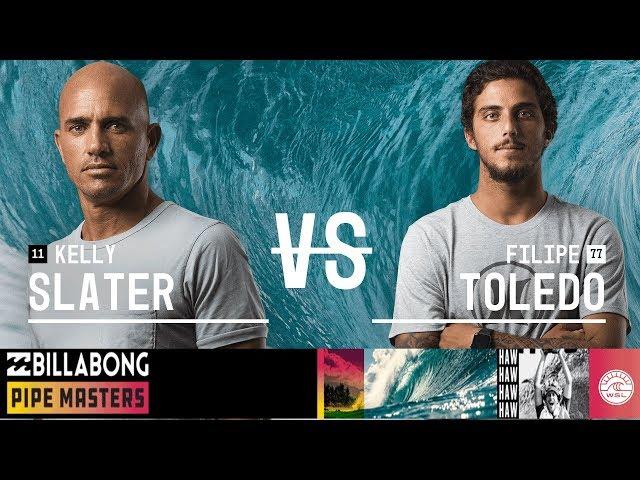 Kelly Slater vs. Filipe Toledo - Round Three, Heat 12 - Billabong Pipe Masters 2018