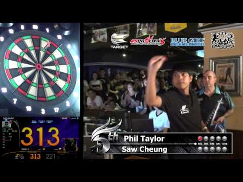 """Phil Taylor"" & ""Saw Cheung"" Phoenix HK Darts Exhibition"