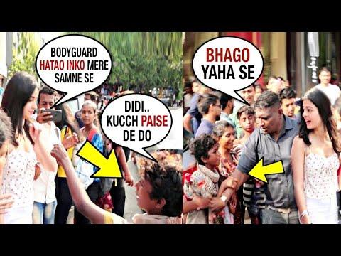 😡Too Rude ANANYA PANDEY Guards kicked Out BEGGAR kids Asking for FOOD| इंसानियत हिं नही है