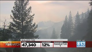 Walker Fire In Plumas County Grows To 47,000 Acres, 12% Contained