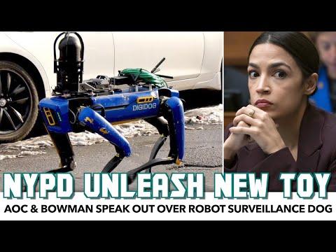 NYPD Unleash Robot Surveillance Dog. AOC & Bowman Speak Out