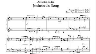 Piano Worship . '요게벳의 노래' 악보(Score). CCM | Acoustic Ballad