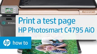 Printing a Test Page | HP Photosmart C4795 All-in-One Printer | HP