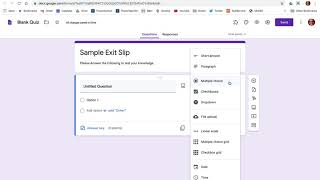 Setting Up A Basic Exit Slip In Google Classroom