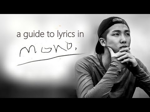 BTS Solo Mixtapes 4: MONO by RM (Lyrics Guide) download