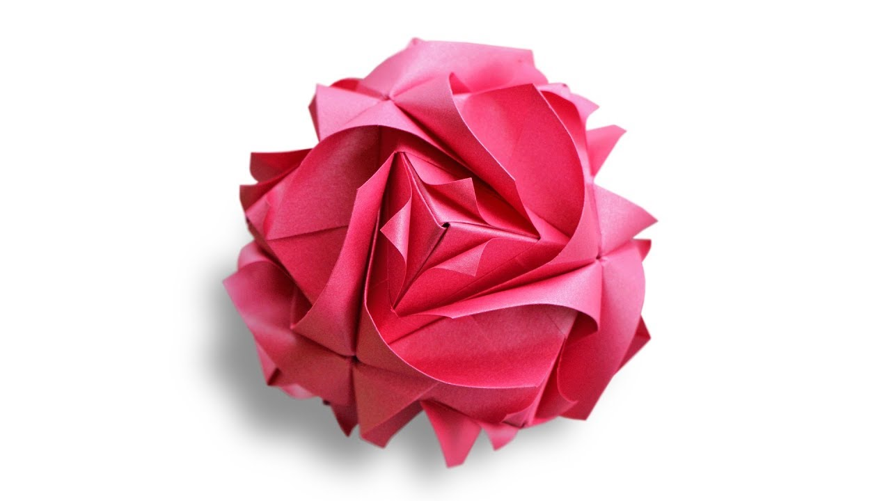 Origami Royal Rose Kusudama Maria Sinayskaya Ez Flower Diagram