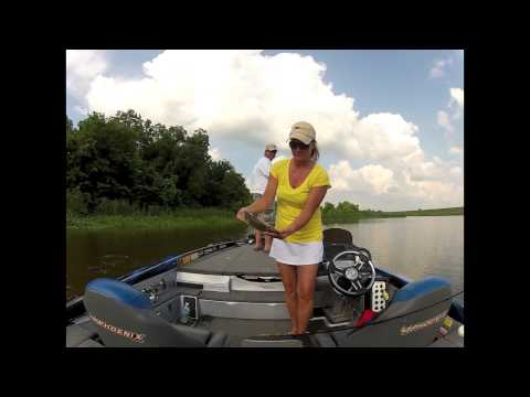 Topwater bass fishing with Creme lures