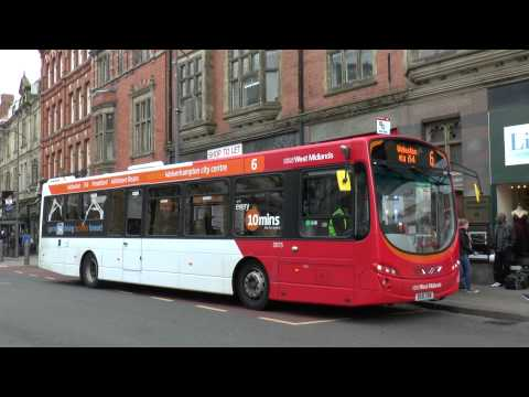 BUSES IN WOLVERHAMPTON MARCH 2014