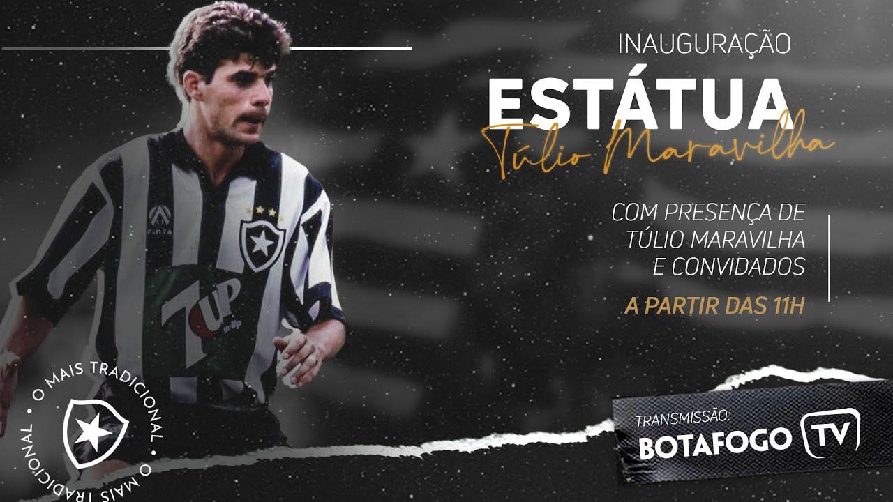 AO VIVO: Botafogo inaugura estátua de Túlio Maravilha no Estádio Nilton Santos