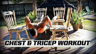 Creative at home Chest and Tricep workout by Corey Hall