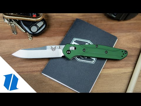 "Benchmade 940 Osborne AXIS Lock Knife Green (3.4"" Satin)"