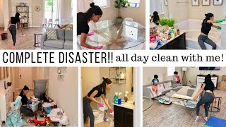 COMPLETE DISASTER CLEANING MOTIVATION!! // ALL DAY CLEAN WITH ME // Jessica Tull cleaning