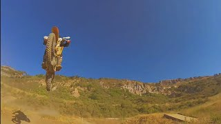 Motocross Jumps Over Drone - FPV Chase!