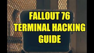 Fallout 76 Terminal Hacking Guide
