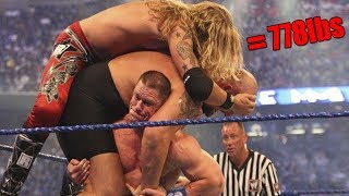 10 REAL Incredible Feats of Strength Performed by WWE Wrestlers