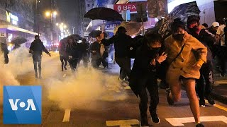 Hong Kong Police Use Tear Gas to Disperse Protesters on New Years Day