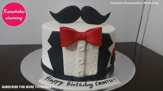 Tuxedo Birthday Cake For Men Design Ideas Decorating Tutorial Video Home Husband Him Dad Boyfriend