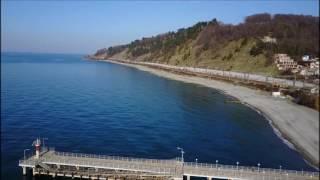 Самый большой пляж в Сочи с квадрокоптера. Пляж в Дагомысе!