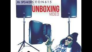 UNBOXING - EON 615   JBL SPEAKERS