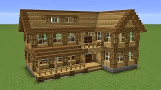 Minecraft - How to build a huge wooden villa