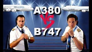 AIRBUS A380 Vs BOEING 747 !!! Pilot.alexander Vs Captain Joe