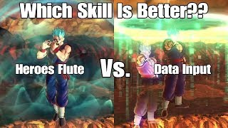 Xenoverse 2 Skill Test! Data Input Vs. Heroes Flute! Which Defensive Skill Is Better?