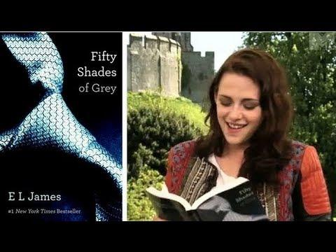 See Kristen Stewart Read Fifty Shades of Grey!