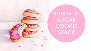 Food Illustration Time-lapse: Sugar Cookies