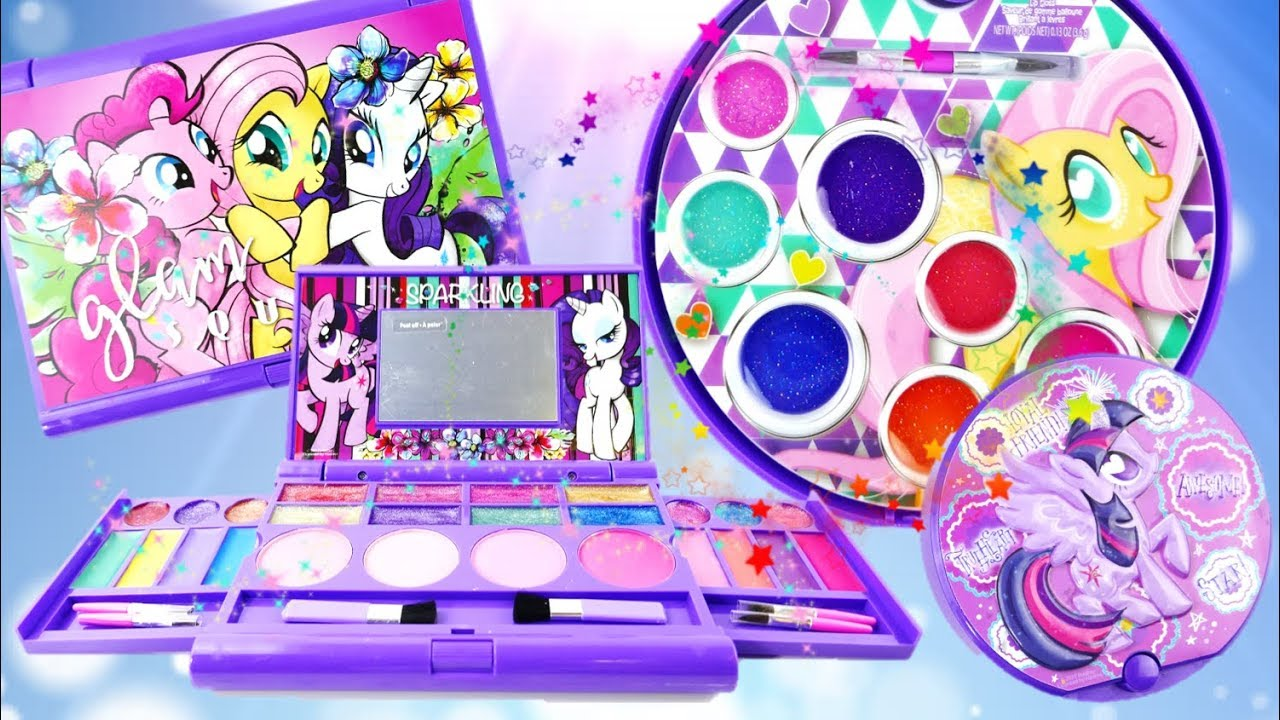 New My Little Pony Lip Gloss Set Makeup Palette Dressup for Girls