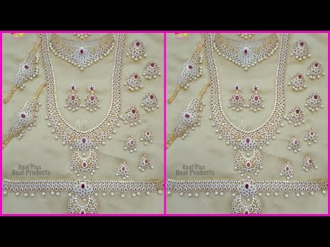 1 gram gold cz bridal sets with price buy online ( Bridal,wedding jewellery)
