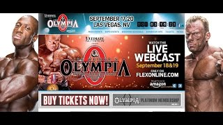 The 2015 Mr. Olympia will be Webcast LIVE!!